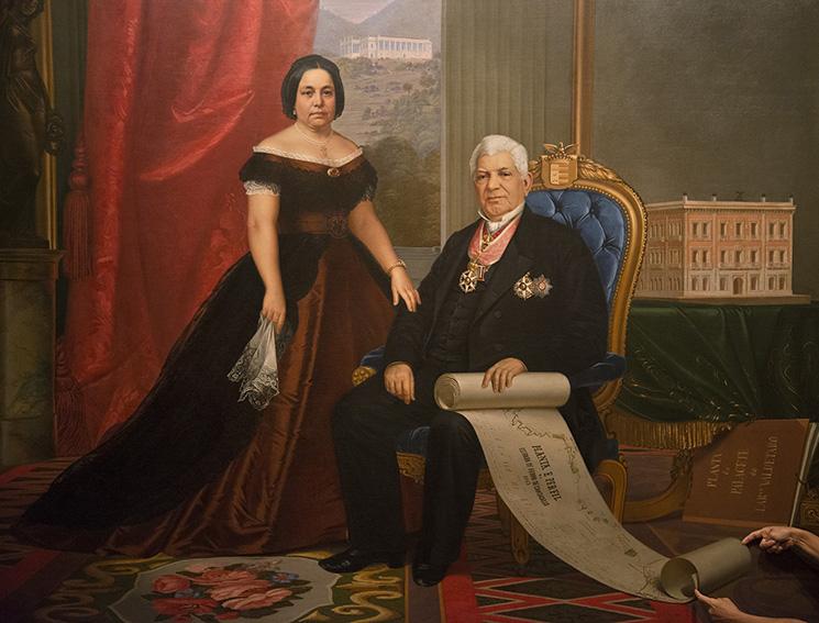"""""""Barão e baronesa de Nova Friburgo"""" (1867), pintura de Emil Bauch (1823- ca.1890), Ada. Museu da República/Ibram/MinC/2015"""