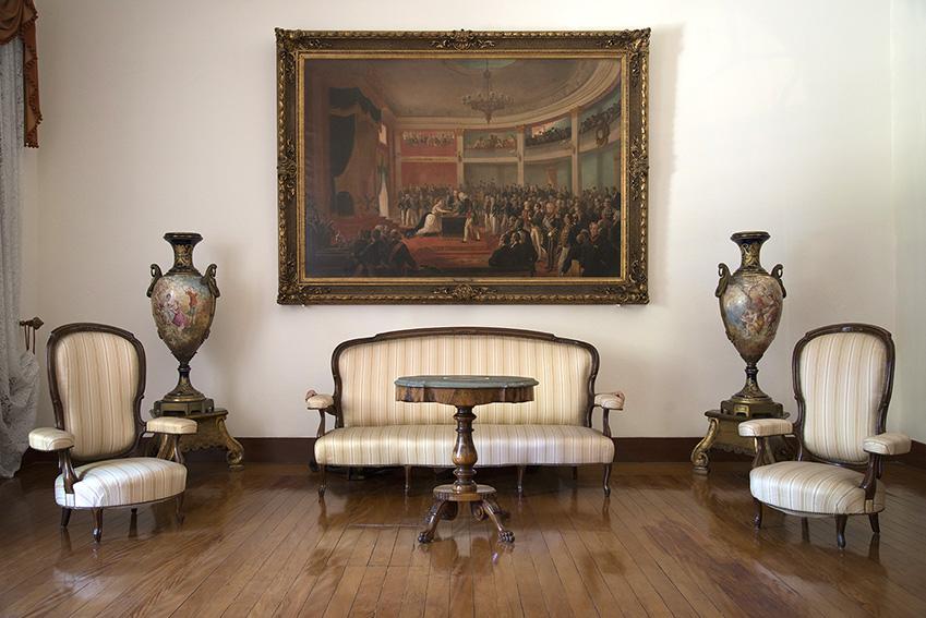 Juramento da Princesa Isabel por Vitor Meireles de Lima (1832-1903), Françoise, par de vasos período do Império, Julien. Museu Imperial/Ibram/MinC/2015