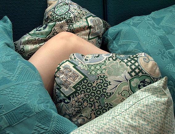 Coussins, tissus variés. Carole. 2005