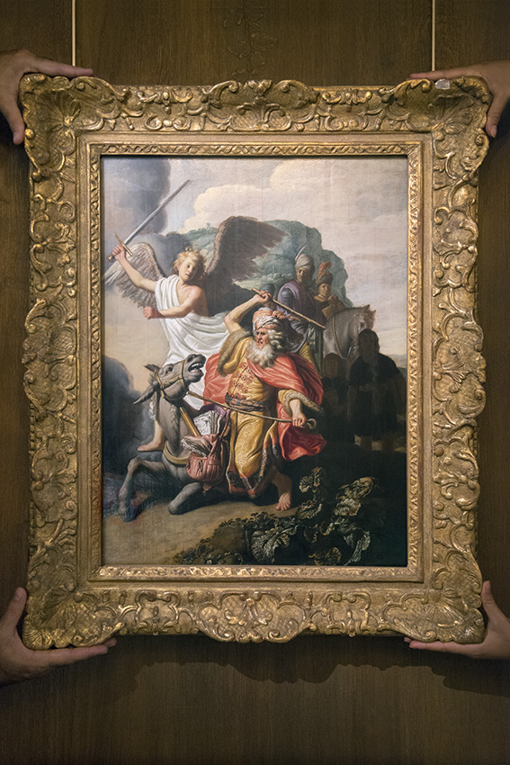 L'Ânesse du prophète Balaam de Rembrandt (1626), Eric, Line. Paris, Musée Cognacq-Jay. 2016