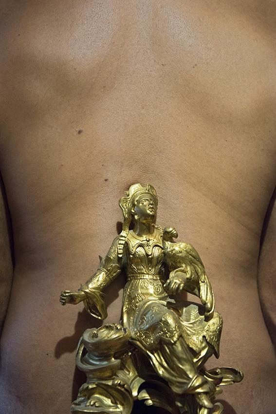 Chenet en bronze, figurine asiatique, Léopold. Paris, Musée Cognacq-Jay. 2016