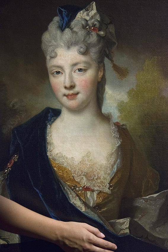 Portrait présumé de Madame la duchesse de Beaufort de Nicolas de Largillierre (1774), Line. Paris, Musée Cognacq-Jay. 2016