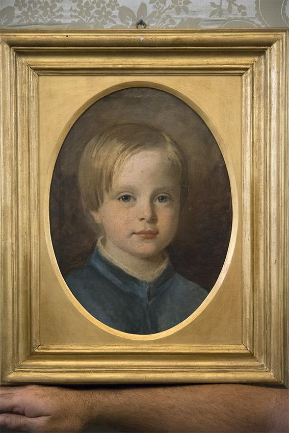 Portrait ovale représentant Alfonso Doria Pamphilj (1851-1914) dans sa jeunesse, Eric. Palais Doria Pamphilj, appartements privés, 2016