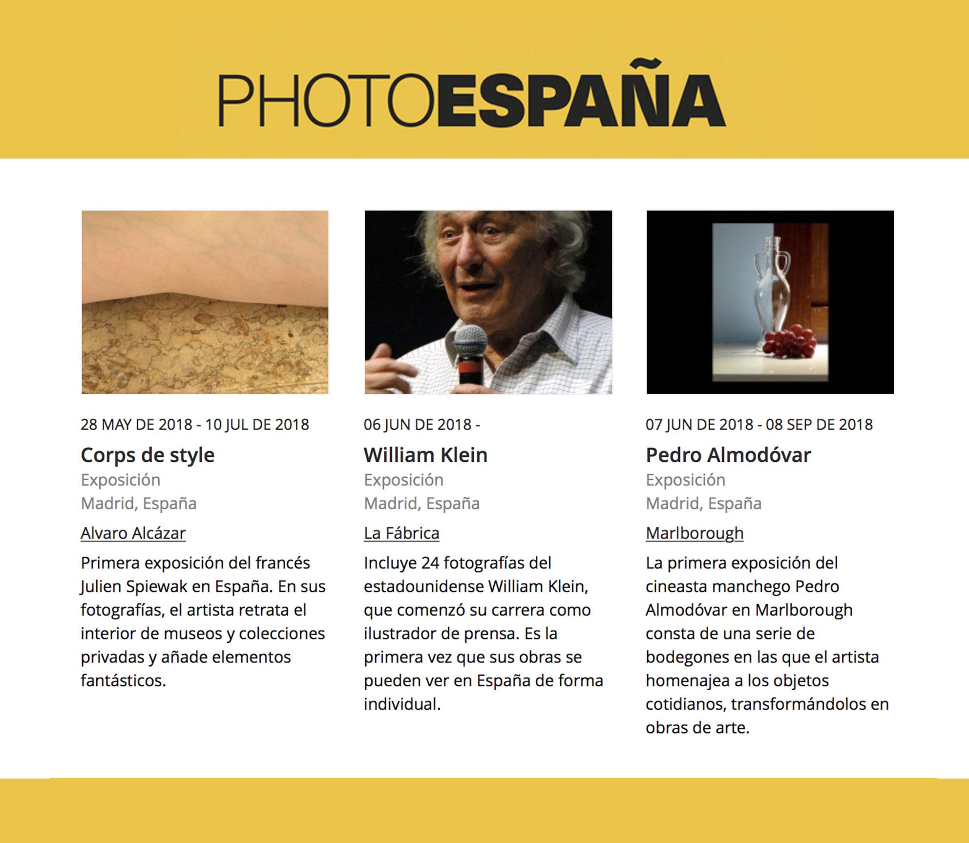 Spain – Photo Espana 2018