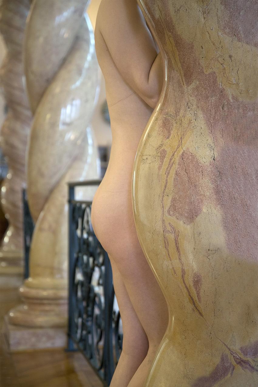 Colonne de marbre, Carole. Musée Ariana, Ville de Genève. 2018
