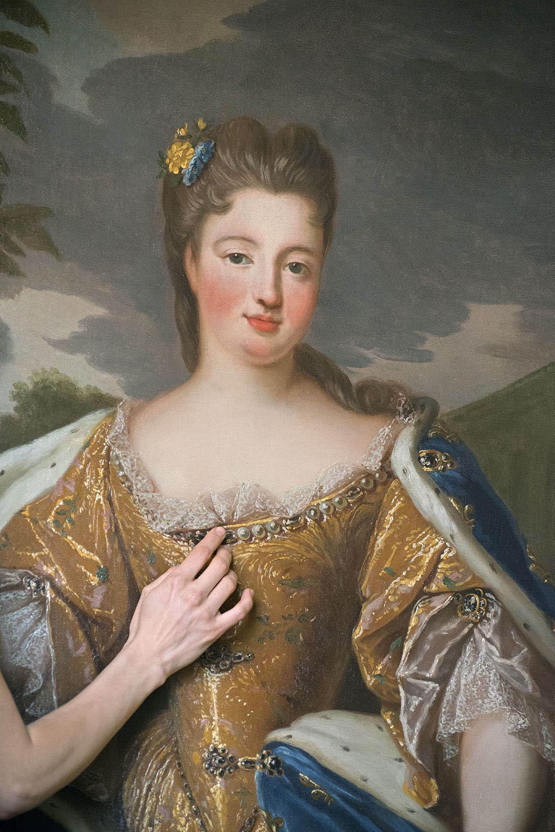 """Louise Françoise de Bourbon """" par J.B. Santerre (1651-1717), Carole. Palais Princier de Monaco. 2018"""